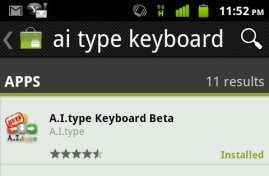 ai type ndroid keyboard