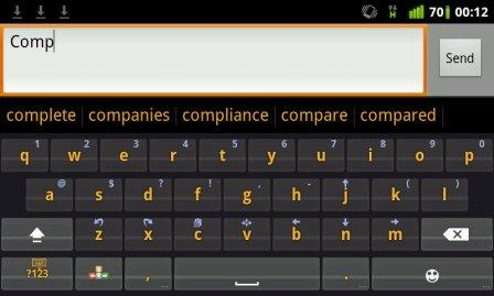 word prediction android keyboard