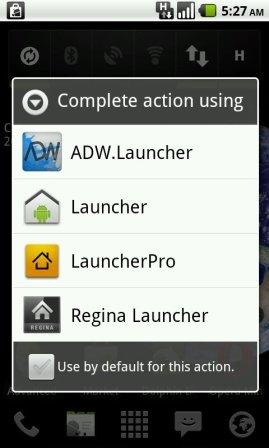 how to choos android launcher