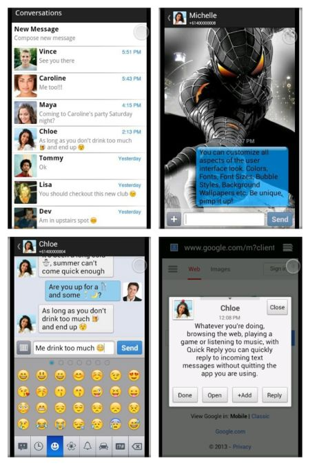 alternative messaging android application