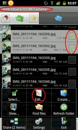 how to copy paste move file in android phone