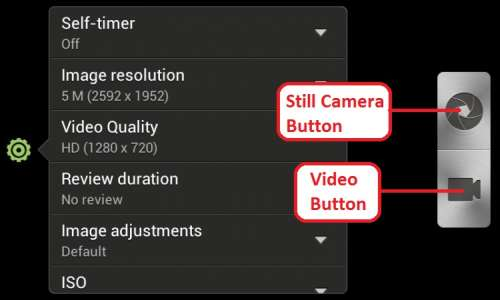 htc one v camera interface