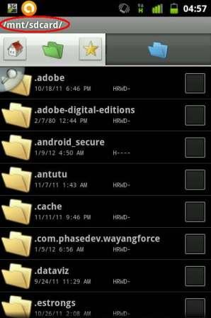 how to use file manager on android